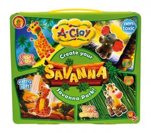 A-Clay argilla per creare animali della Savana Set bricolage per bambini