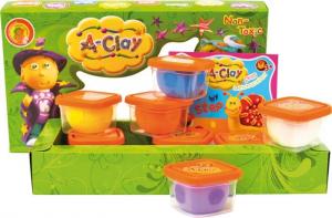 A-Clay plastilina 8 Colori diversi in barattoli Gioco set bricolage per bambini