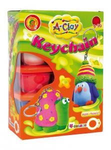 A-Clay plastilina per creare Portachiavi con accessori
