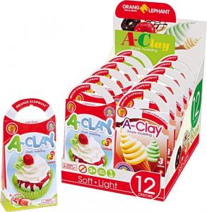 A-Clay plastilina modellante Dolciumi Espositore/display per negozi edicole scuole