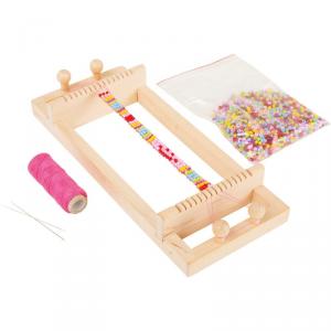 Telaio in legno per perline per creazione braccialetti Legler 3947