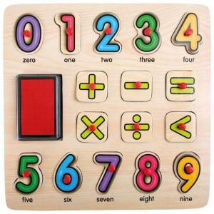 Timbri e puzzle Matematica Imparare giocando Legler 10078