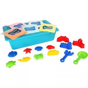 Sabbia cinetica con formine Varietà gioco per bambini