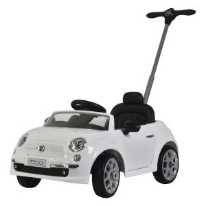 Triciclo da spingere per bambini Push Car Fiat 500 Bianca