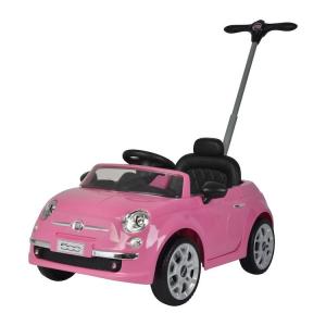 Triciclo da spingere per bambini Push Car Fiat 500 Rosa
