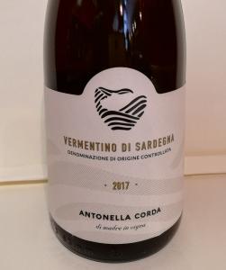 Vermentino Di Sardegna DOC 2017 - Antonella Corda CL. 75
