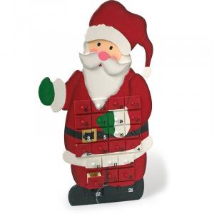 Calendario dell'avvento in legno Babbo Natale regalo per Natale