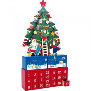 Calendario dell'avvento Pino in legno articolo natalizio