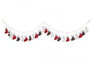 Calendario dell'avvento Stivali a maglia decorazione natalizia