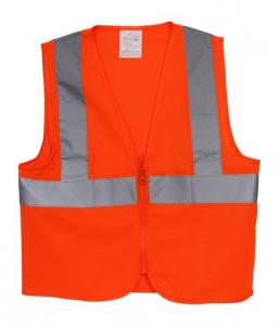 Giubbotto riflettenti stradale di sicurezza arancio per bambiniSet da 3