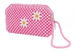 Borsa di perle borsetta per bambina/ragazza Set da 2