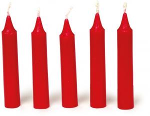 Candele colore rosso per feste compleanno centrotavola Set da 36 pezzi