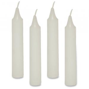 Candele colore bianco addobbi feste compleanno 36 pezzi Legler 4429