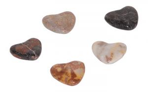 Cuori in pietra levigata  set da 5