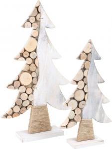 Albero in legno a strati decorazione giorni Avvento e Natale