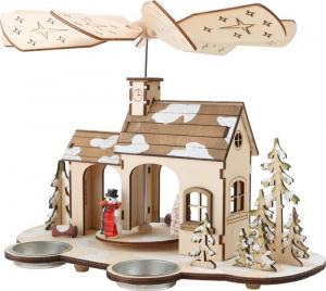 Piramide di Natale Avvento in legno con lumini Decorazione natalizia
