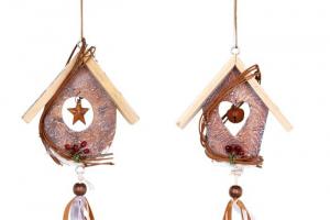 Pendaglio in legno con campanelle Decorazione casa