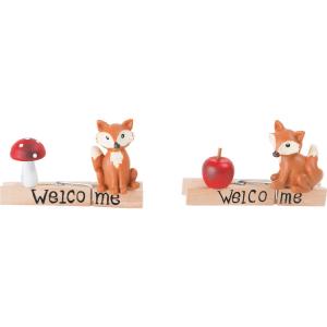 Welcome Mollette decorative in legno volpi