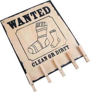 Porta calzino con mollette in legno Cercasi calza