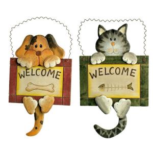 Insegna Welcome amici degli animali Cane e Gatto