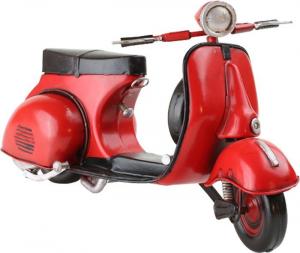 Motorino da collezione nostalgico rosso