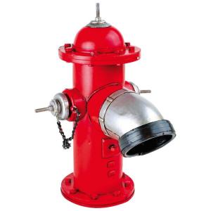 Idrante rosso in metallo nostalgico da collezione Arredo casa ufficio negozio
