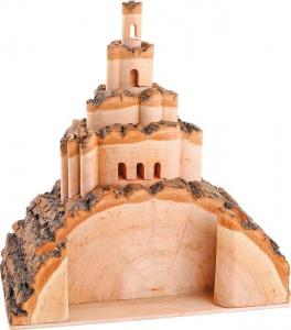 Castello 3D in legno Montagna e porta biglietti da visita
