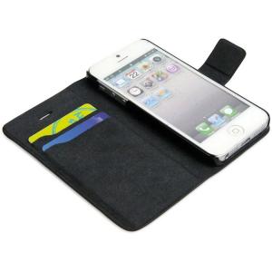 Custodia iPhone 5 FlipCase in similpelle corole marrone