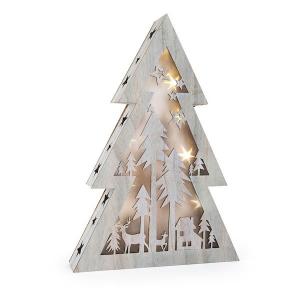 Albero di Natale con luci Shabby Chic grande Legler 10200