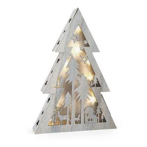 Albero di Natale con luci Shabby Chic piccolo Legler 10201