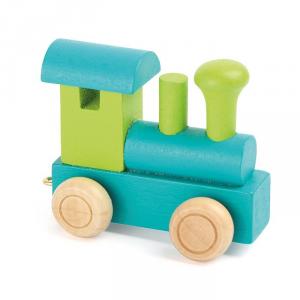 Locomotiva per trenino in legno con nome bambino Legler 10347