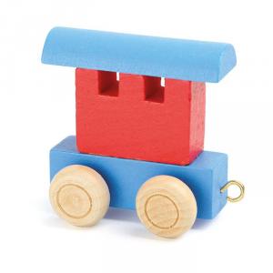 Vagone per trenino in legno nome bambini Legler 10348
