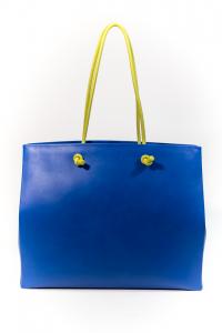 Borsa Shopping Alberta Ferretti Blu Sunday - V7001