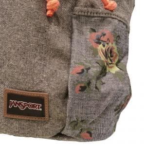 Jansport - Crossland - Zaino da donna grigio con fantasia a fiori cod. T08T9QM