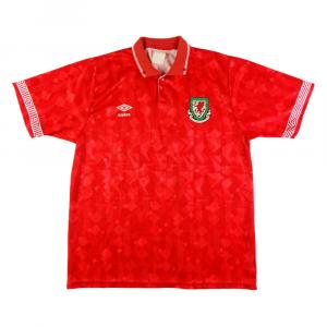 1990-92 Galles Maglia Home XL