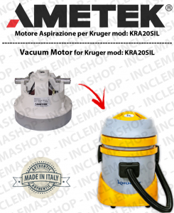 Kruger KRA20SIL AMETEK vacuum motor for vacuum cleaner KRUGER