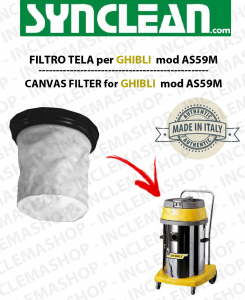AS59 M Canvas filter for GHIBLI vacuum cleaner