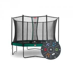 Trampolino Tappeto Elastico Berg FAVORIT Safety Net Comfort Variante Tattoo