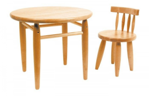 Tavolini In Legno Per Bambini : Tavolo tavolino per gioco bambini in legno massiccio rotondo