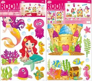 Adesivi decorativi Mondo sott'acqua decorazione cameretta bambine