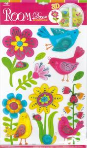 Adesivi decorativi a forma di Uccelli per cameretta e mobili bambini