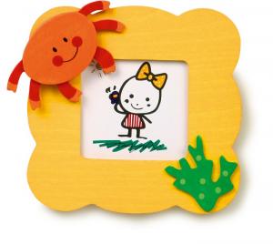 Cornice porta foto in legno Facce Divertenti per bambini gioco Set 6 pezzi