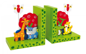 Set 2 Reggilibri Animali selvatici per bambini arredo cameretta e scrivania