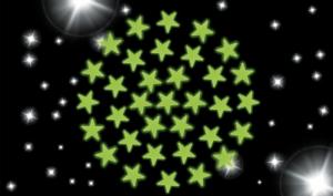 Decorazione x la cameretta Adesivi Stelle che si illuminano al buio x bambini