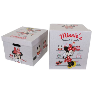 Scatola-box-custodia Minnie Mouse Disney per bambina Set da 2