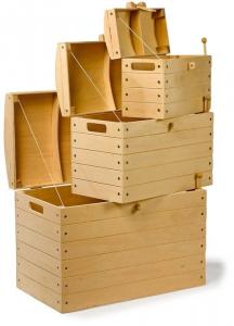 Casse Pirata in legno per contenere giochi Set da 3 diverse misure
