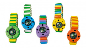 Bracciale colorato con Bussola accessorio giocattolo per bambini Set da 5
