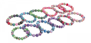 Braccialetto con perline Set da 9 accessorio per bambine e donne