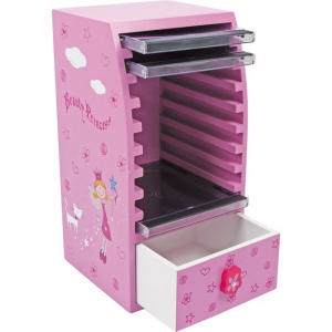 Custodia Porta CD in legno per bambine Beauty Principessa