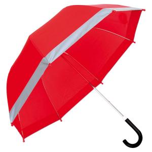 Ombrello rosso con strisce riflettenti
